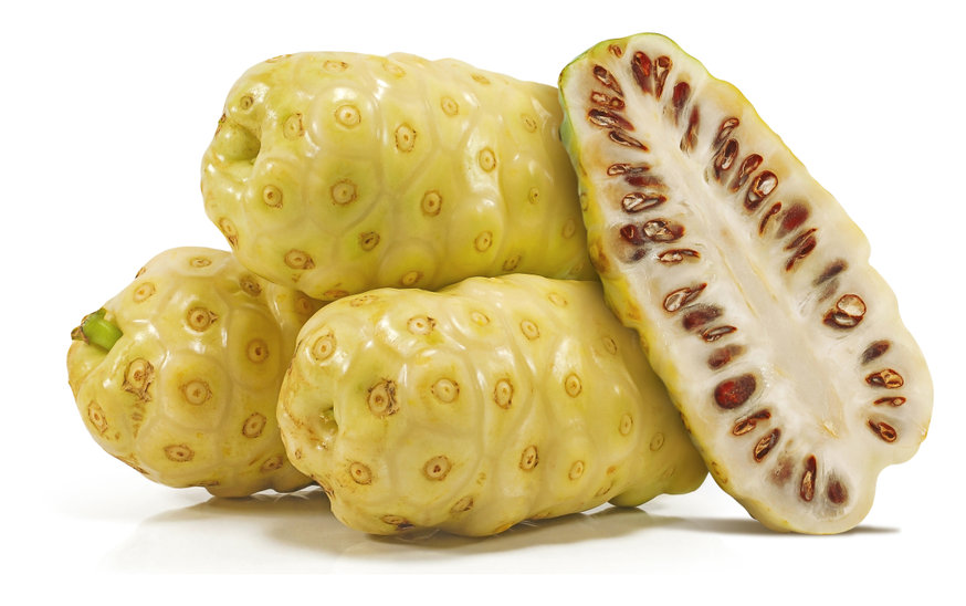 Noni juice fermented for 2 to 5 weeks